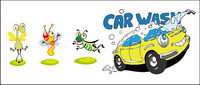Insects and vector cartoon car material