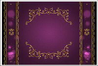 The classical gold lace border vector material