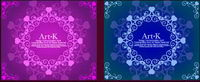 2 lines of beautiful lace Vector material