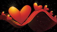 Heart-shaped vector material -2 dynamic lines of the background