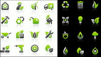 Environmental protection icon set vector materials