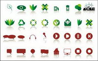 80 simple icons vector material