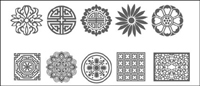 Traditional pattern set vector material