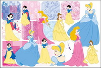 Snow White and the pattern vector material -2