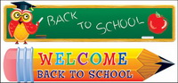 Lovely school theme vector material