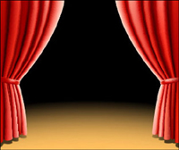 2 beautiful curtain vector of material