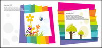 Lovely color vector material