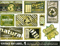Material retro vector do the old label