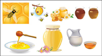 Gather honey bees vector of material
