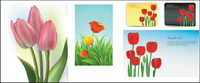 Tulips vector of material