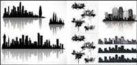 {silhouette of urban cool }Vector material