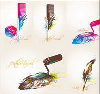 Feather Theme Vector