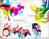 Colorful trend vector background