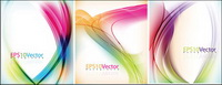 Colorful lines background vector dynamic