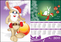 2011 Year of the Rabbit Calendar Vector