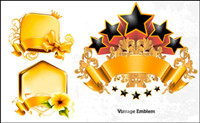 Gold decoration Graphics Vector