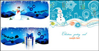 Christmas cartoon background-vector material