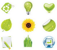 Green icon - vector material