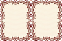 Classic security pattern border  01 - Vector