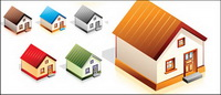Little house icon vector material