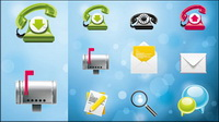 Very delicate system icon vector material -3