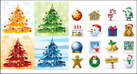 Elements of the lovely Christmas icon