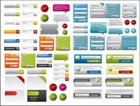 A variety of web design elements vector material