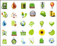 Beautiful green icon - vector material