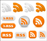 Rss Subscribe Icons - Vector