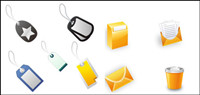 Office icons and labels - Vector