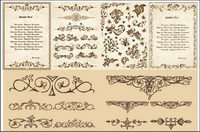 European classical pattern vector material