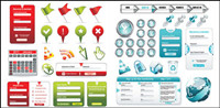Web design commonly used elements vector