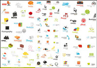 A variety of beautiful icons - vector material