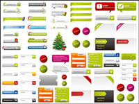 Web page design elements 02-- vector material