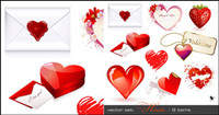 Romantic heart-shaped - Vector