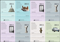 6 exquisite 2011 Calendar Template - Vector