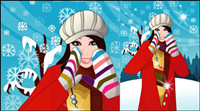 Winter Women vector 6