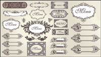 European classic pattern lace 02 - vector