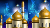 Islamic-style castle vector material -1