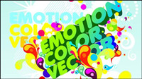 Colorful posters vector background material