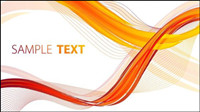 Flow curves text box vector material -1
