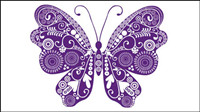 Beautiful butterflies vector material
