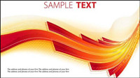 Vector red material flow curve text box -3