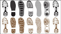 Variety of fine shoe prints 02 - vector