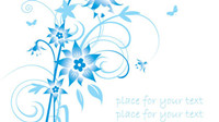 Simple blue hand-painted flowers pattern background vector material -2