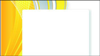 Bright yellow line text box vector -3