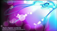 Colorful Mirage streamline background vector -1