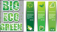 Low-carbon green theme design vector -1