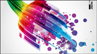 Symphony dynamic light background vector -1