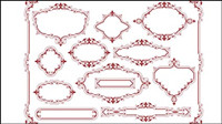 European-style lace pattern 05-- vector material